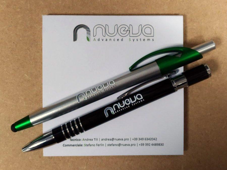 Nueva penne e blocknotes