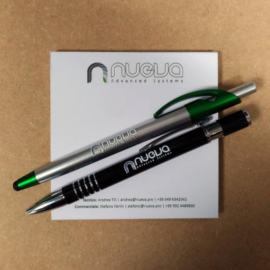 Block notes e penne personalizzati