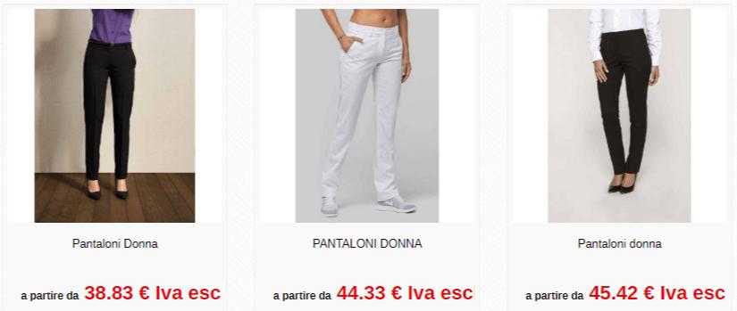 Divisa personalizzata - pantaloni